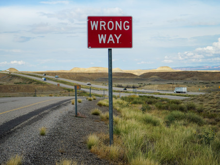 Are we going the wrong way?