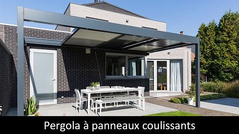 SOLISYSTEME pergola aluminium panneaux coulissant ouvrir toiture completement protection soleil et pluie
