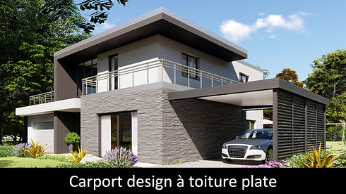 ESPACE LOUNGE modèle  LOUNGE carport design sans traverse toiture panneau sandwich metalpan suna-protekto