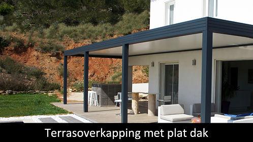 terrasoverkapping met plat dak