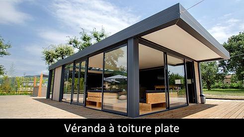 ESPACE LOUNGE modele ZENIT veranda toiture plate super isolant agrandissement maison sur mesure suna protekto