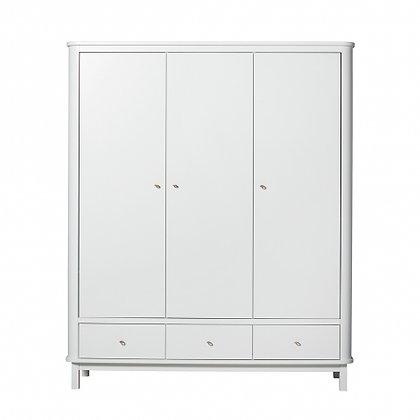 Oliver Furniture Wood Kleiderschrank 3-türig weiß