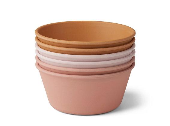 Liewood Greta bamboo bowl 6-pack Rose multi mix