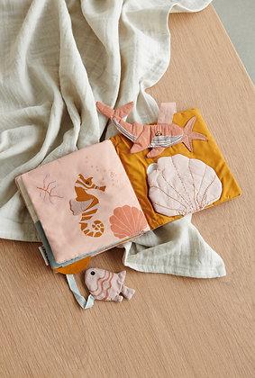 Liewood Sammy fabric book Sea creature rose mix