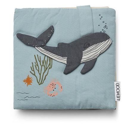 Liewood Sammy fabric book Sea creature mix