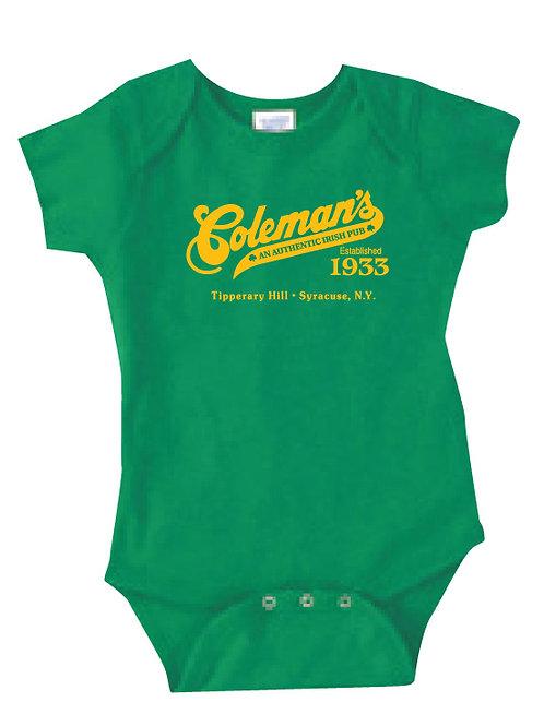 Coleman's Green Onesie size 12 months