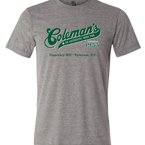 "Coleman's ""Authentic Irish Pub"" short sleeve Gray"