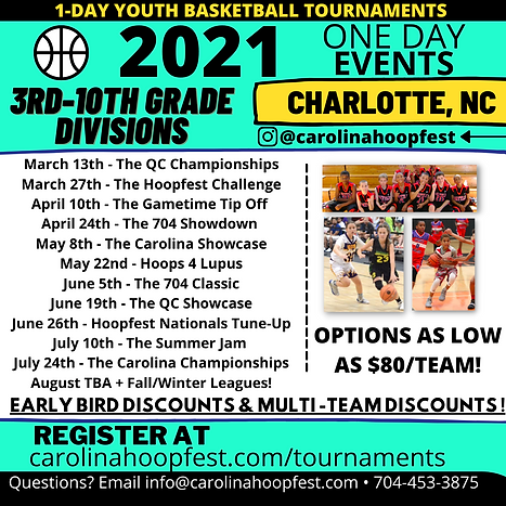 Charlotte Youth Basketball Tournaments. Youth Basketball Tournaments in Charlotte NC. AAU Basketball Tournaments in Charlotte NC