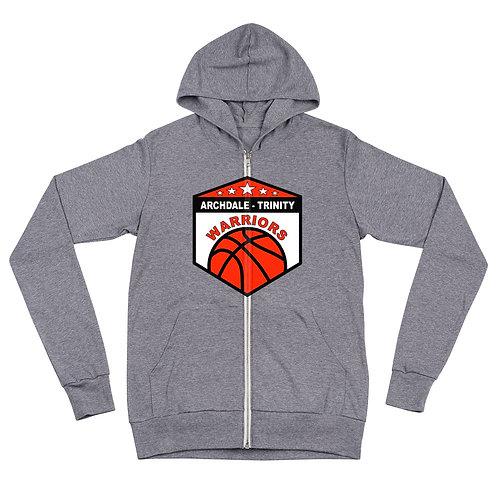 AT Warriors Unisex zip hoodie