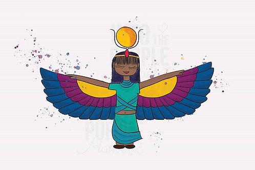 GODDESS ISIS - MYTHOLOGY - Wall Art Print