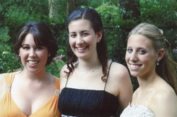 with Allie and Jill high school prom