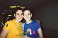 with Caity in high school