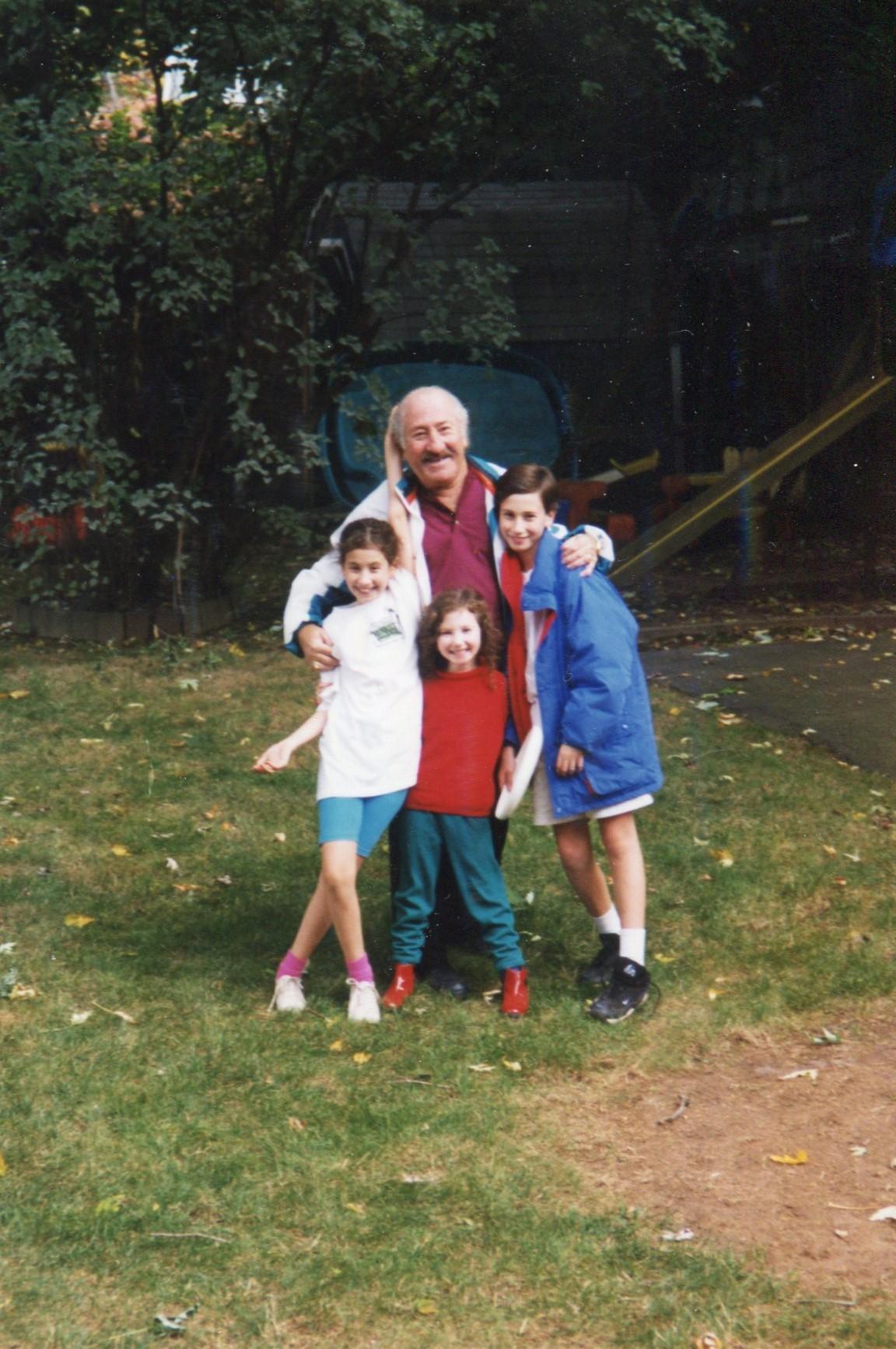 siblings with Grandpa