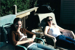 with cousin Kayla 2006