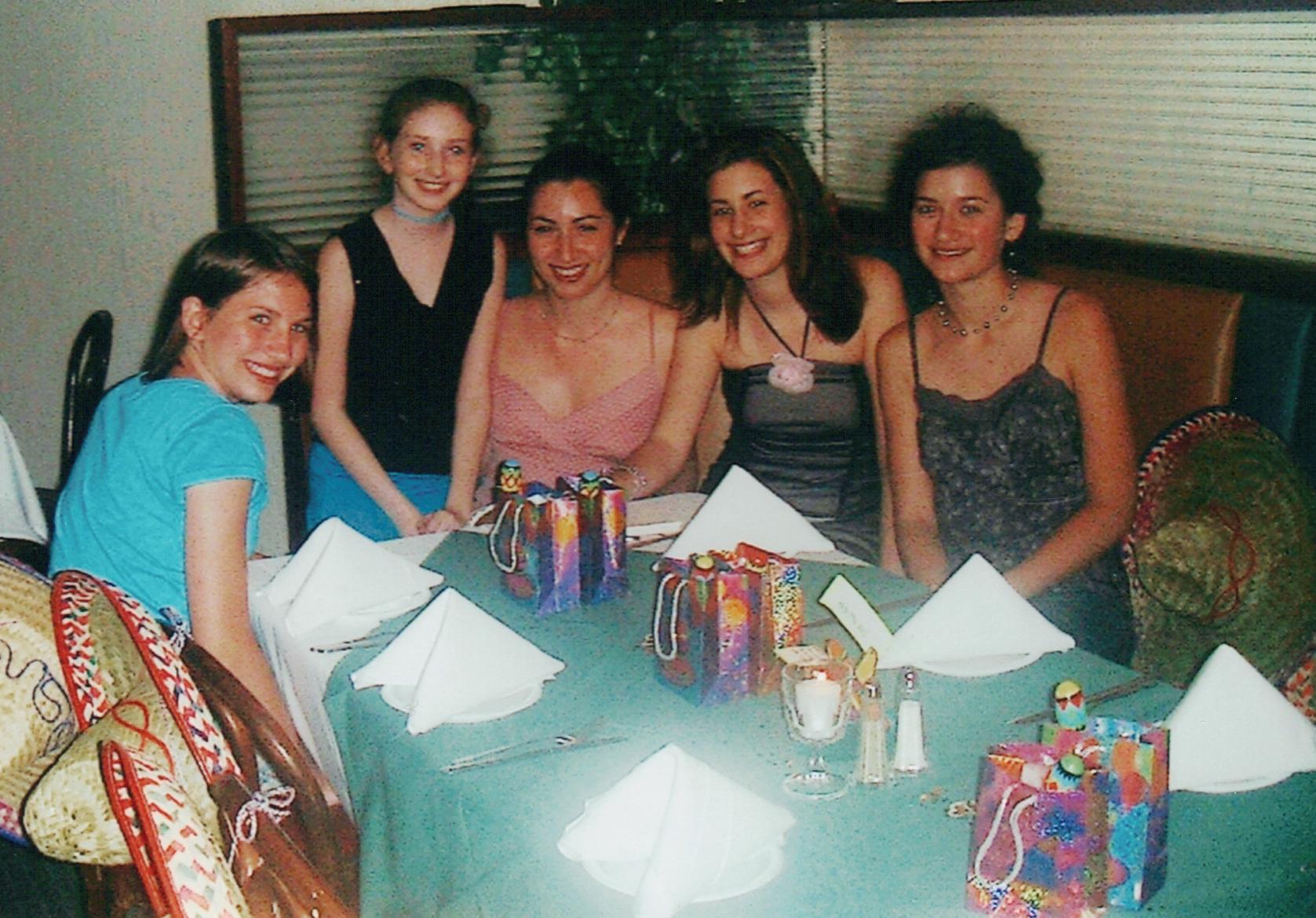 with Emily, Tania, Kayla, Lizzie
