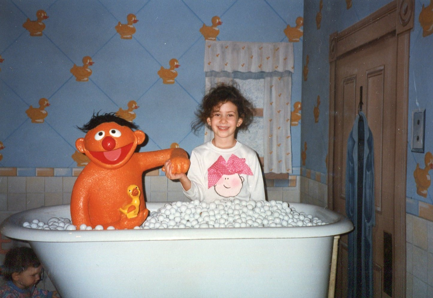 at Sesame Place with Ernie