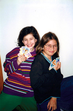 with cousin Lizzie upstate 1998