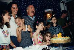 singing at Grandpa's 70th birthday