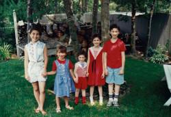 cousins Rachel, Emily & siblings