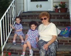 with sister Tania & Grandma Florrie
