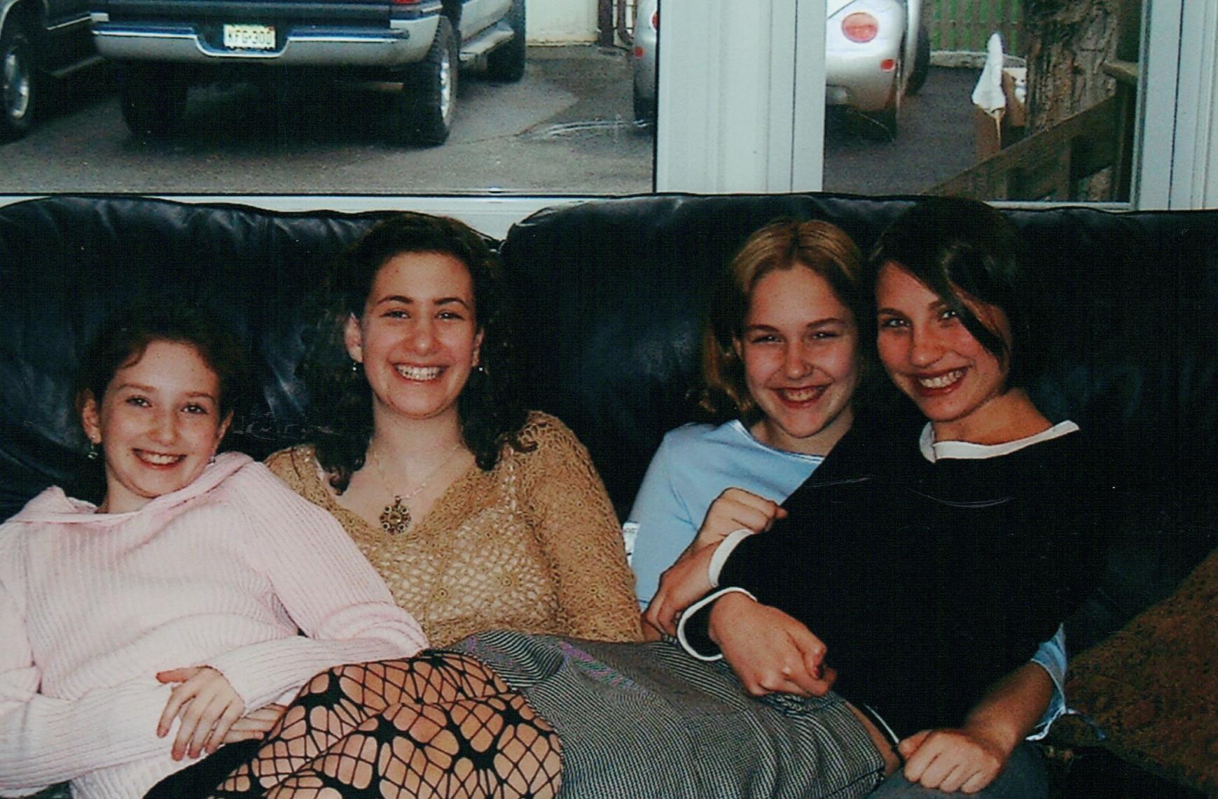 with Tania, cousins Sammy & Emily