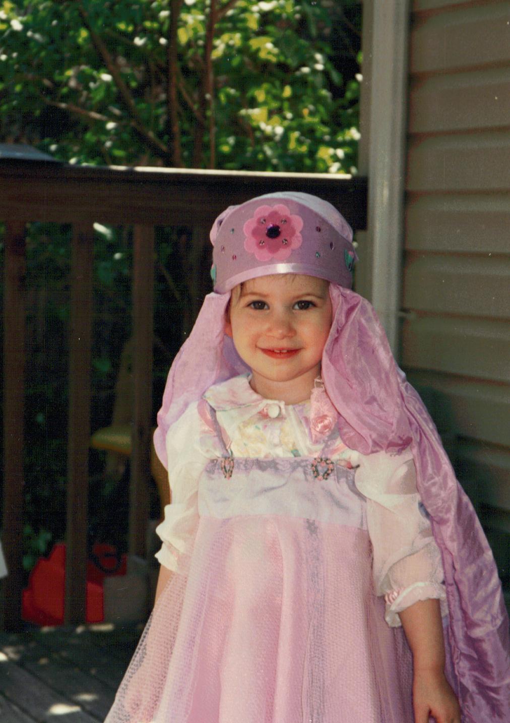 1990 birthday princess - age 2
