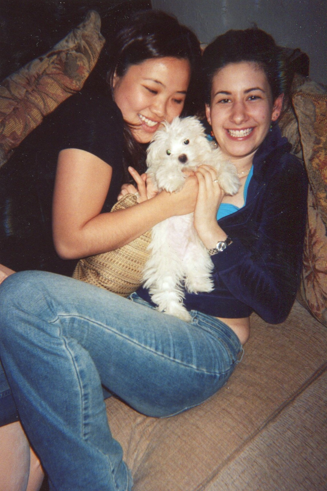 with Shirley and her dog