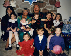 with grandparents & cousins