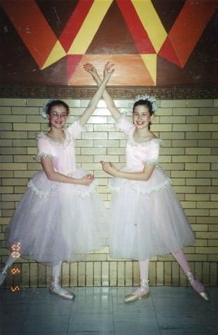 With Julia at dance recital