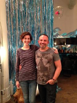 with Wonderland Salon owner Michael