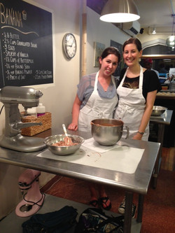 Allie and Isadora at baking class