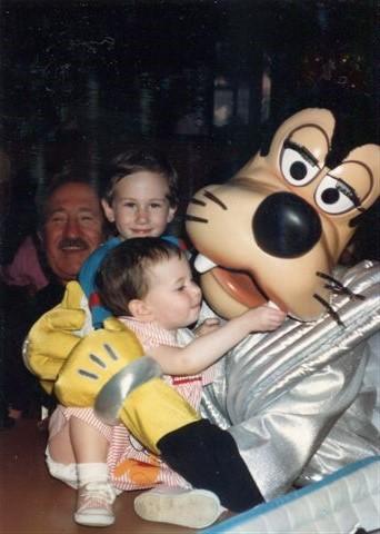 1989 with Goofy, Hilton and Grandpa
