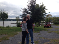with her dad Sept. 2013