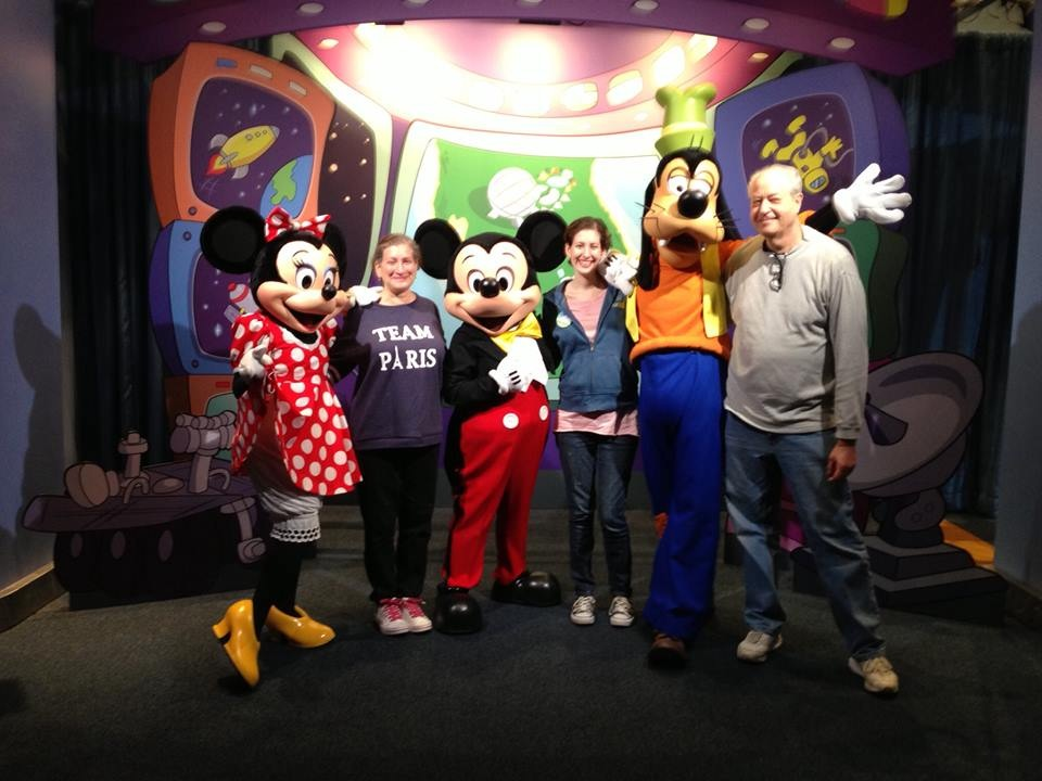 with Mickey and friends Jan. 2014
