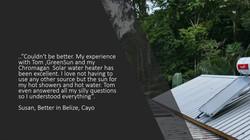 Susan, Better in Belize