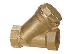 "Brass line filter, 1/2"", stainless-steel mesh"