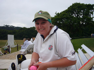 Jemma presented with the match ball