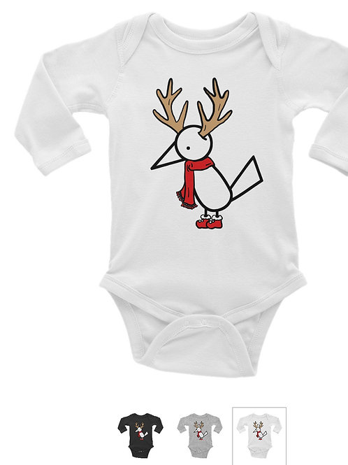 Long sleeve Baby Bodysuit | White