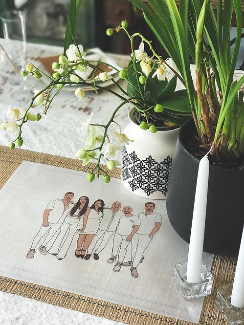ערכה מאויירת אישית לעיצוב השולחן