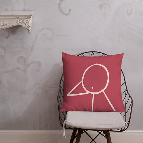 Decorative Pillow + insert included | dark red