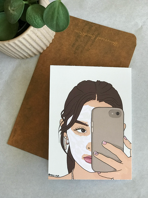 Greeting card | illustrated greeting cards | selfie