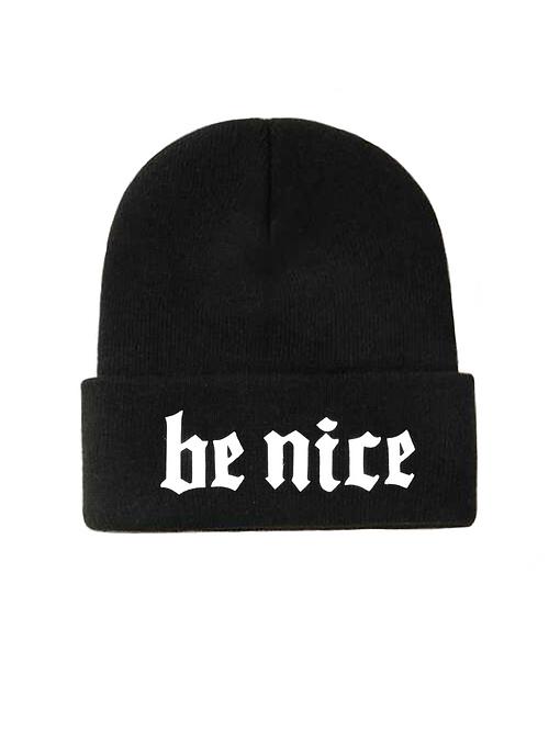 Be Nice Black Beanie