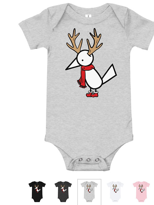 Light Gray Holiday Muli Baby Bodysuit