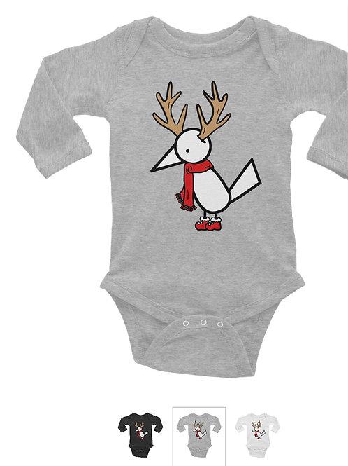 Long sleeve Baby Bodysuit | Gray
