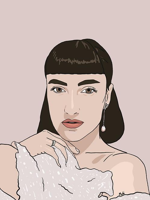 1 person customized illustration