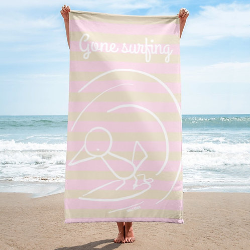 Gone Surfing beach towel