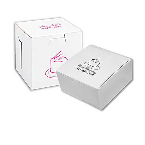 8x8x2.5 White Bakery Box (250/Case)