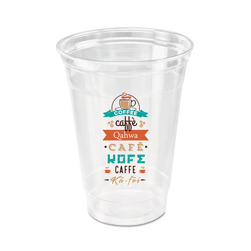 24 oz Custom Printed 4800 pcs Clear Plastic Cup