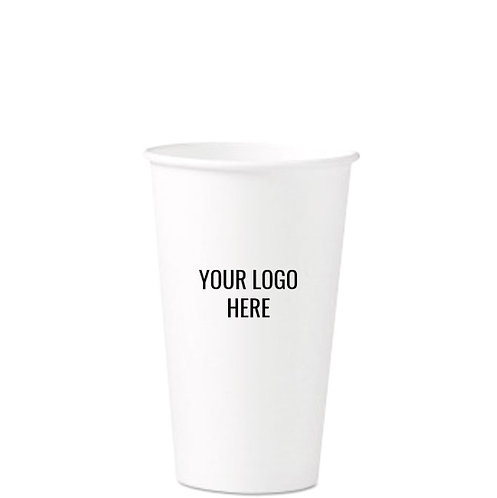 16oz Paper 'Hot' Cup Custom Printed with Your Logo