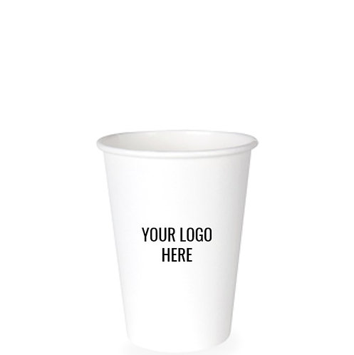 12oz Paper 'Hot' Cup Custom Printed with Your Logo